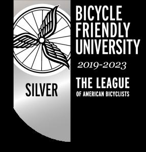 Silver Bicycle Friendly University (BFU) status logo